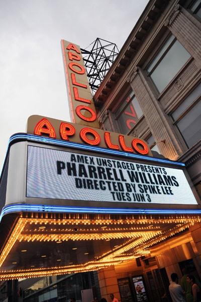 Pharrell, Apoloo Theatre