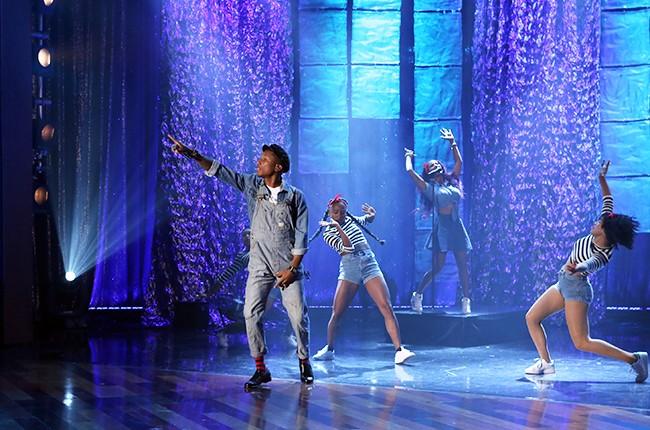 "Pharrell Williams performs on ""The Ellen DeGeneres Show"""