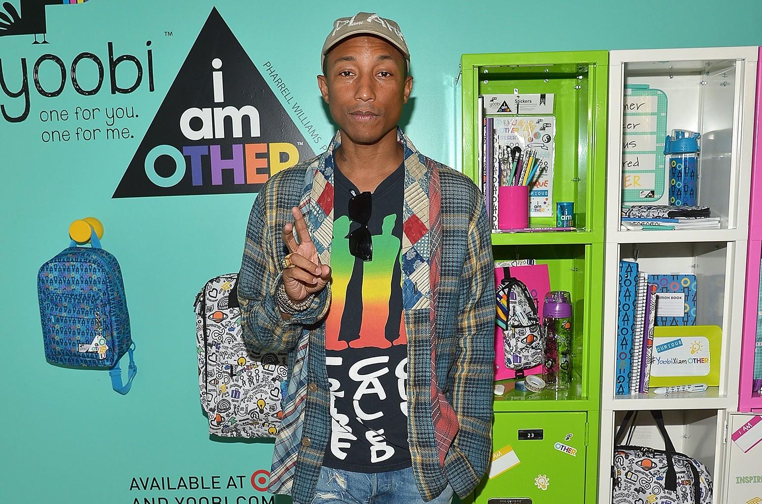 Pharrell at Yoobi x i am OTHER