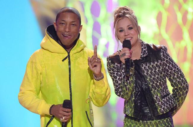 Pharrell Williams, Kaley Cuoco at Kids' Choice Awards