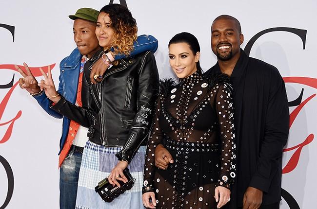 Pharrell Williams, Helen Lasichanh, Kim Kardashian, Kanye West