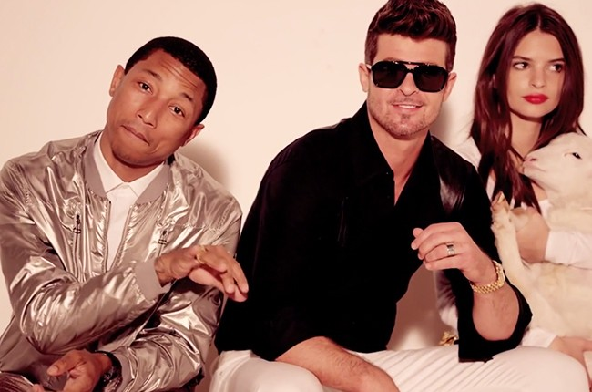 Robin Thicke and Pharrell in Blurred Lines