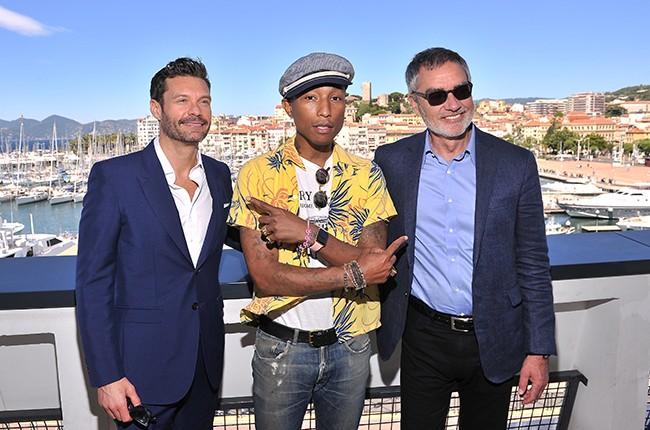 Ryan Seacrest, Pharrell Williams and Bob Pittman