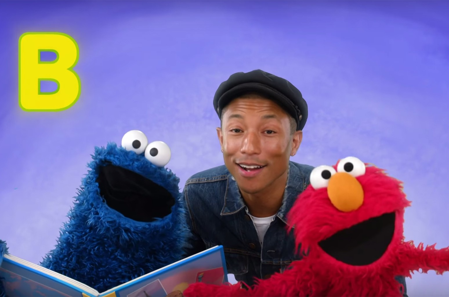 Pharrell Williams on Sesame Street.