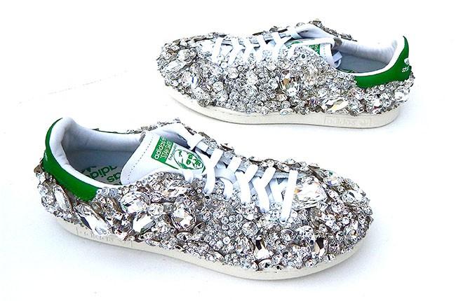 Pharrell's Swarovski shoes