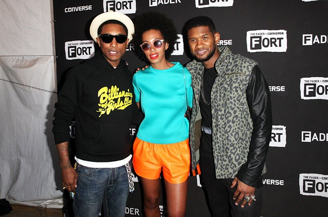 Pharrell Wiliams, Solange Knowles and Usher