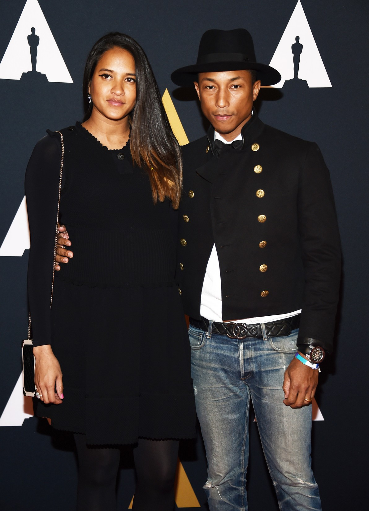 Pharrell Williams and Helen Lasichanh arrive at the Academy of Motion Picture Arts and Sciences' 8th Annual Governors Awards at The Ray Dolby Ballroom at Hollywood & Highland Center on Nov. 12, 2016 in Hollywood, Calif.