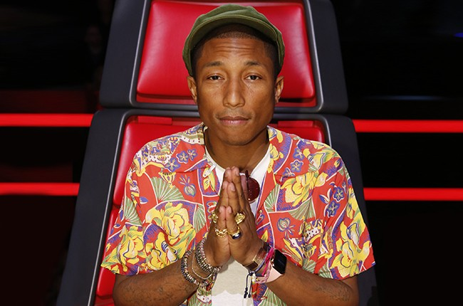 Pharrell Williams photographed for NBC's The Voice, 2015.