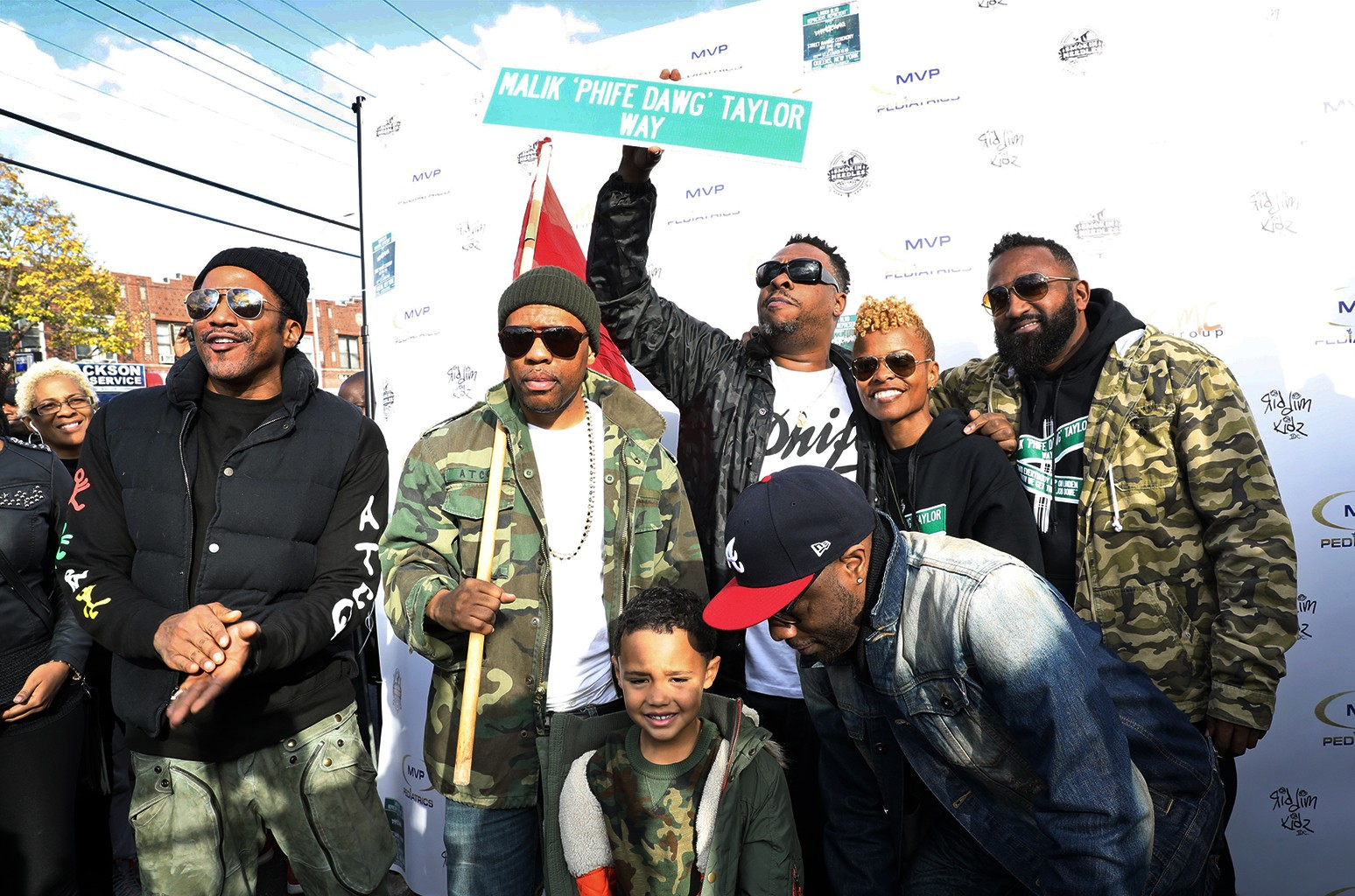 Q-Tip, Consequence, Consequence's son Caiden, Jarobi White, Deisha Head Taylor & DJ Rasta Root
