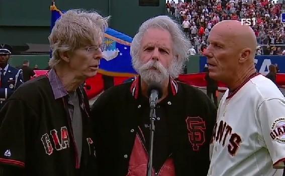 Phil Lesh, Bob Weir & Tim Flannery