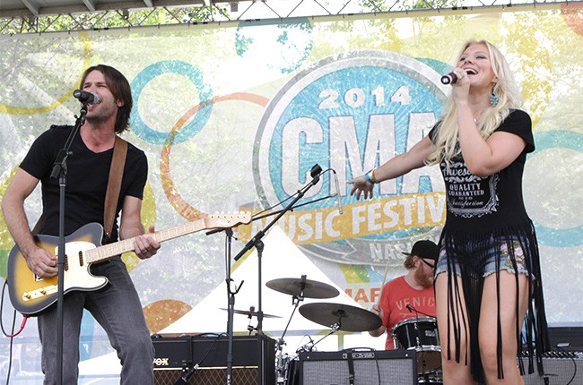Pierce Avenue performs at the CMA Music Festival