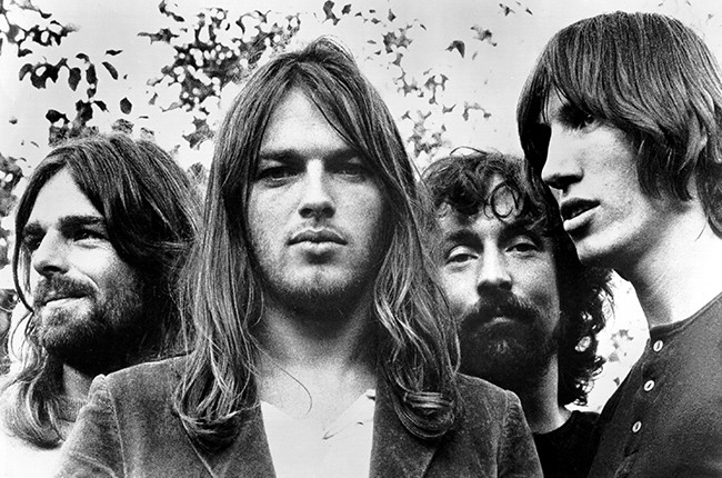 Pink Floyd's Rick Wright, Dave Gilmour, Nick Mason and Roger Waters