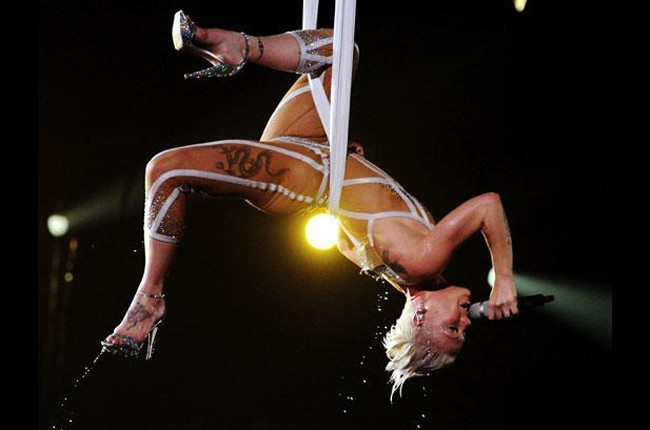 Pink performs at the Grammys