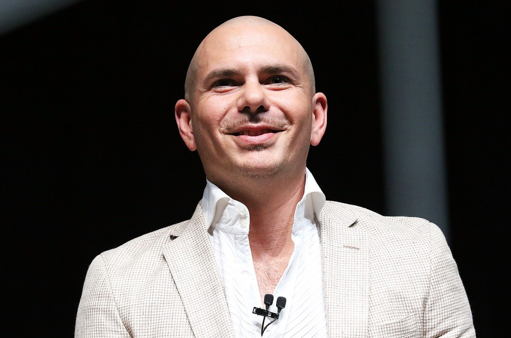 Pitbull speaks at Emerge Americas at the Miami Beach Convention Center