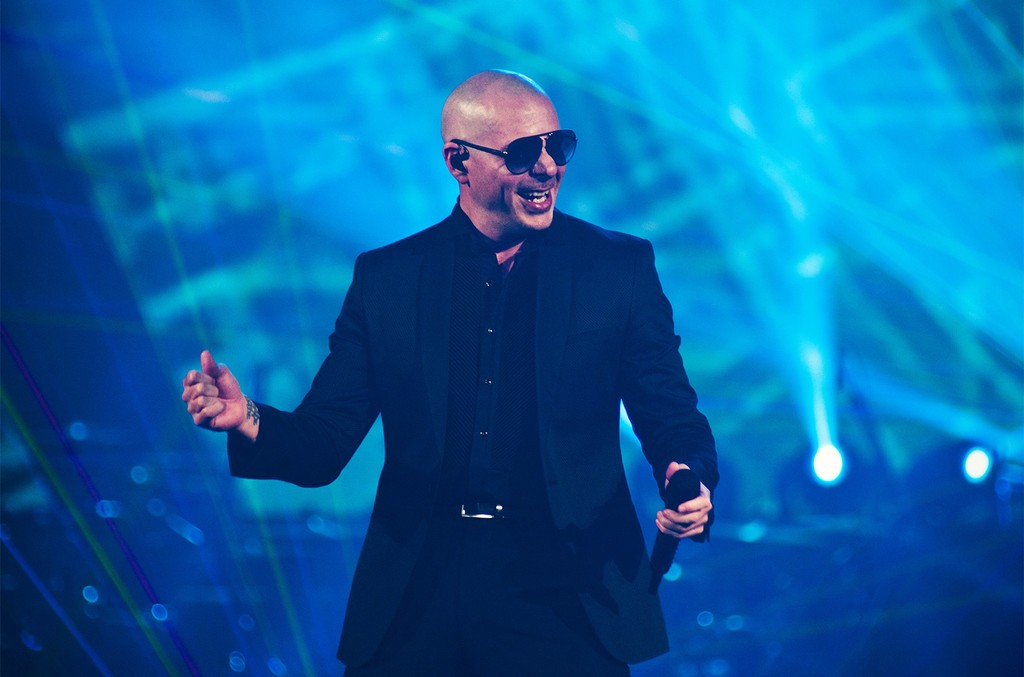 Pitbull performs on opening night of Pitbull and Enrique Iglesias Live! at Allstate Arena on June 3, 2017 in Chicago.
