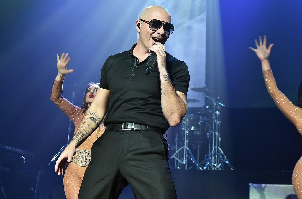 Pitbull performs at Nikon at Jones Beach Theater