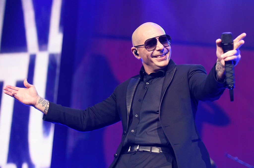 Pitbull performs at United Center on Aug. 16, 2016 in Chicago.
