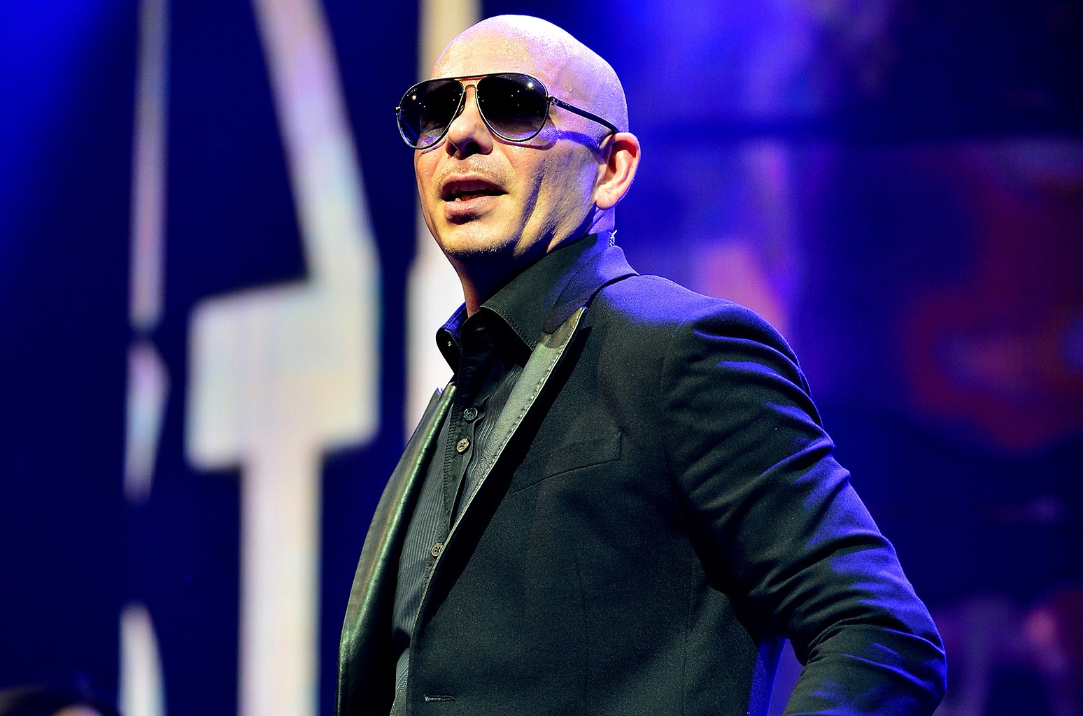 Pitbull performs in 2016