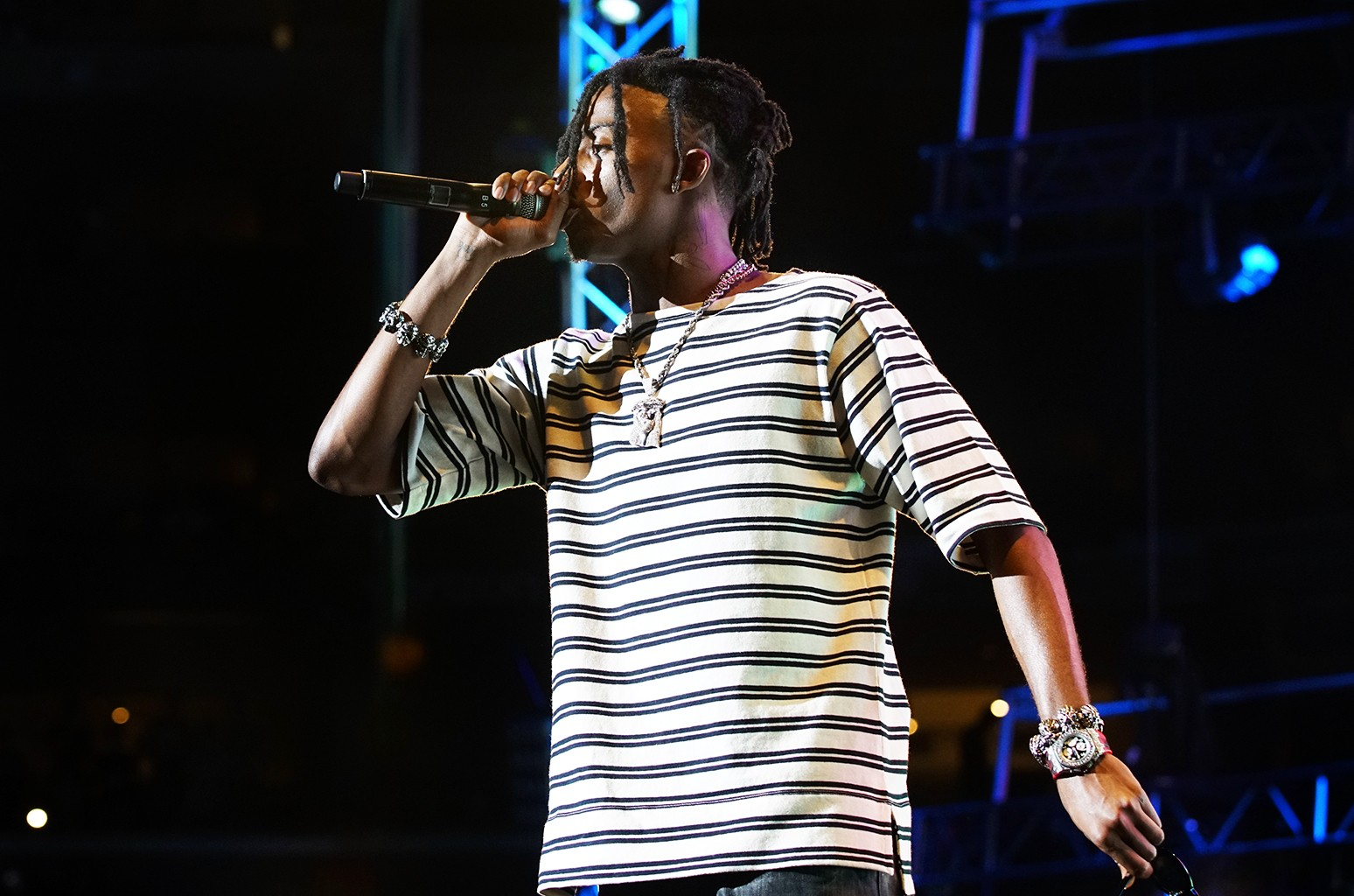 Playboi Carti performs onstage at night one of the 2017 BET Experience Staples Center Concert, sponsored by Hulu, at Staples Center on June 22, 2017 in Los Angeles.