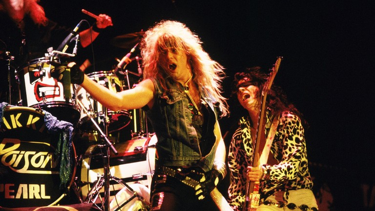 <p>Poison perform at the Long Beach Arena in&nbsp&#x3B;1987 in Long Beach, Calif.&nbsp&#x3B;</p>
