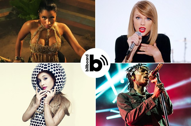 Pop Shop Podcast Taylor Swift Hits No 1 Nicki Minaj S Anaconda Wiz Khalifa More Billboard