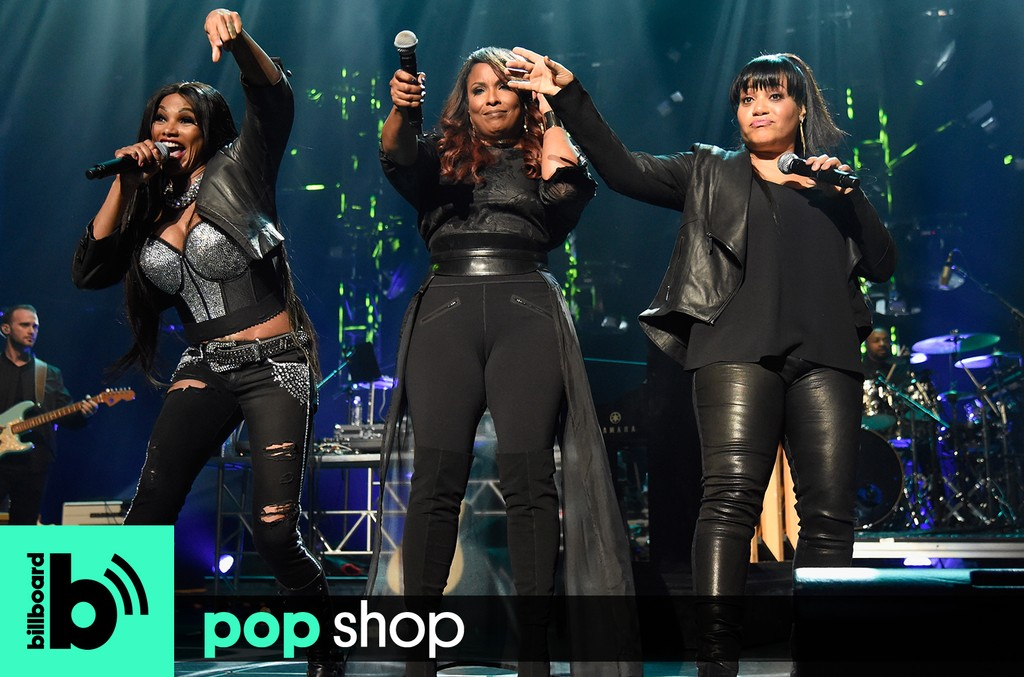 Pop Shop Podcast: Sandra 'Pepa' Denton, DJ Spinderella, and Cheryl 'Salt' James of Salt-N-Pepa perform onstage during Keep A Child Alive's Black Ball 2016 at Hammerstein Ballroom on Oct. 19, 2016 in New York City.