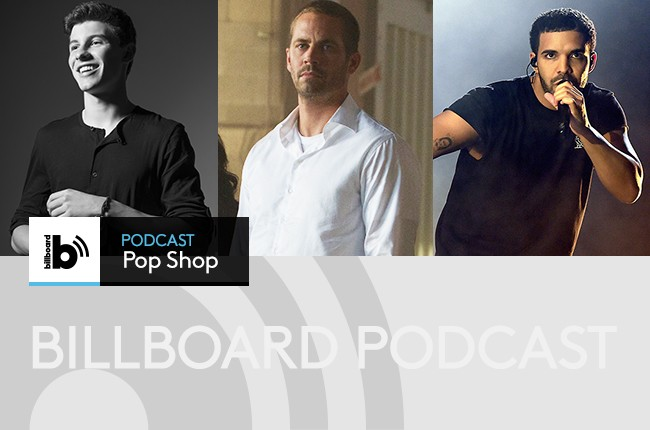 Pop Shop Podcast featuring Shawn Mendes, Paul Walker, and Drake