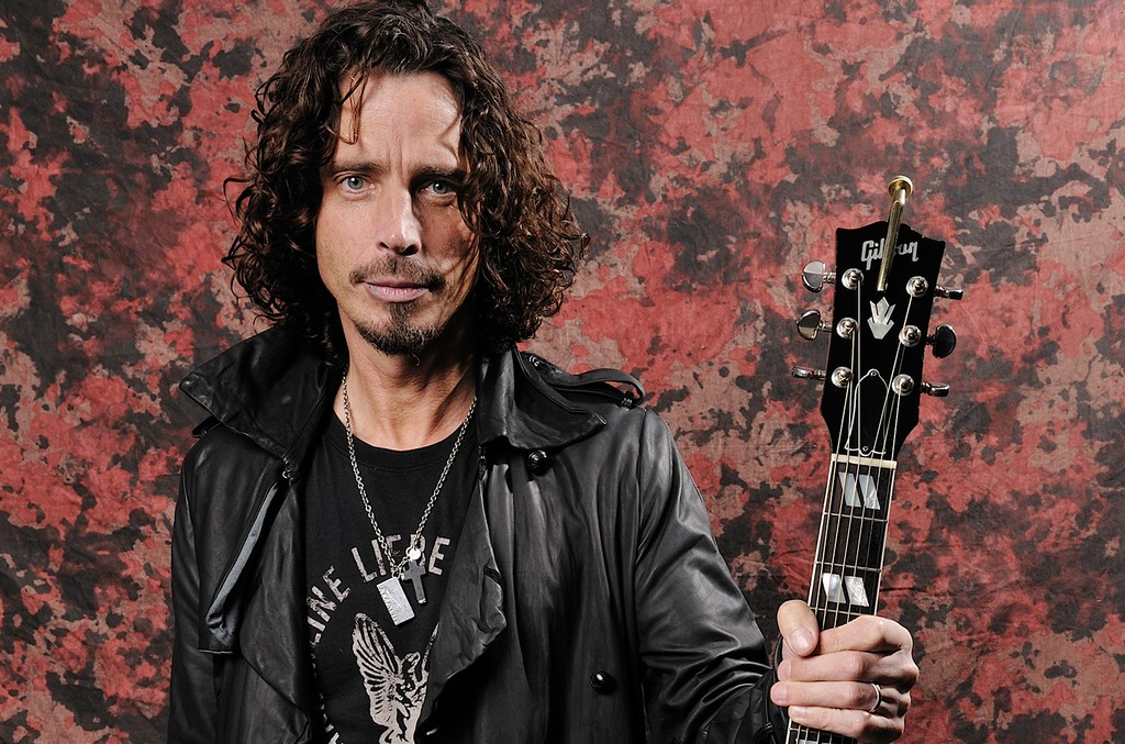 Chris Cornell photographed backstage at Download Festival on June 15, 2009.