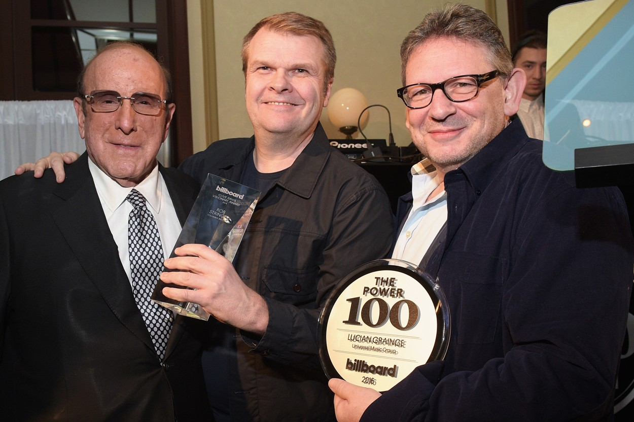 Clive Davis, Rob Stringer & Lucian Grainge