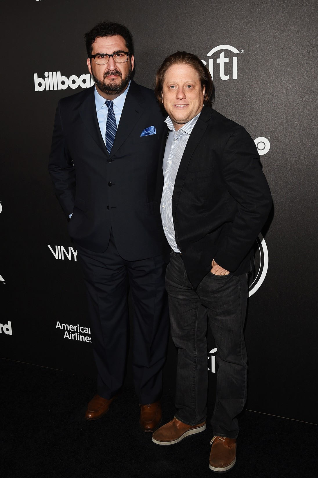 Billboard Editor-In-Chief Tony Gervino (L) and promoter Peter Shapiro attend 2016 Billboard Power 100