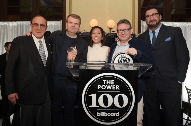 Clive Davis, Rob Stringer, Janice Min, Lucian Grainge and Tony Gervino