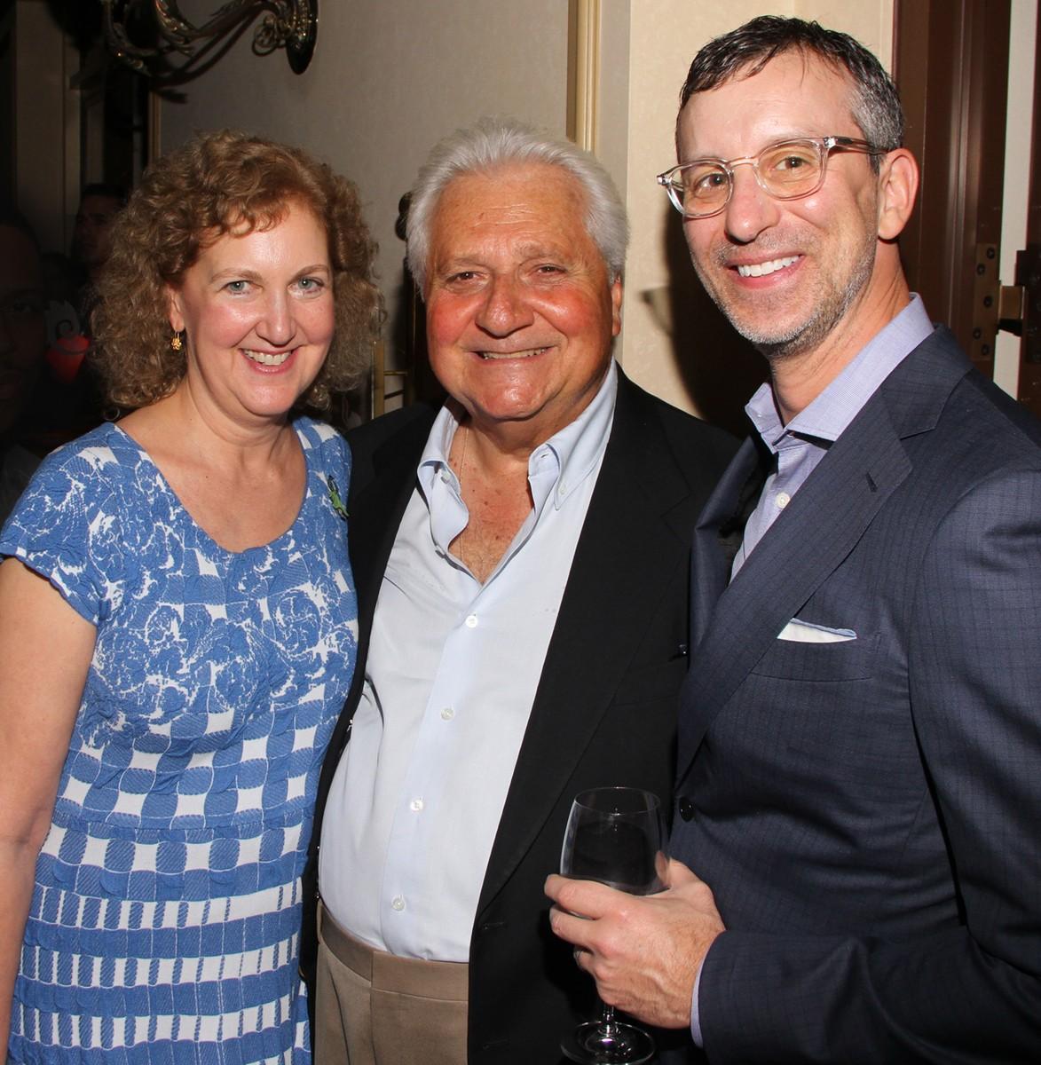 Julie Swidler, Martin Bandier & David Israelite at the Billboard Power 100 Party