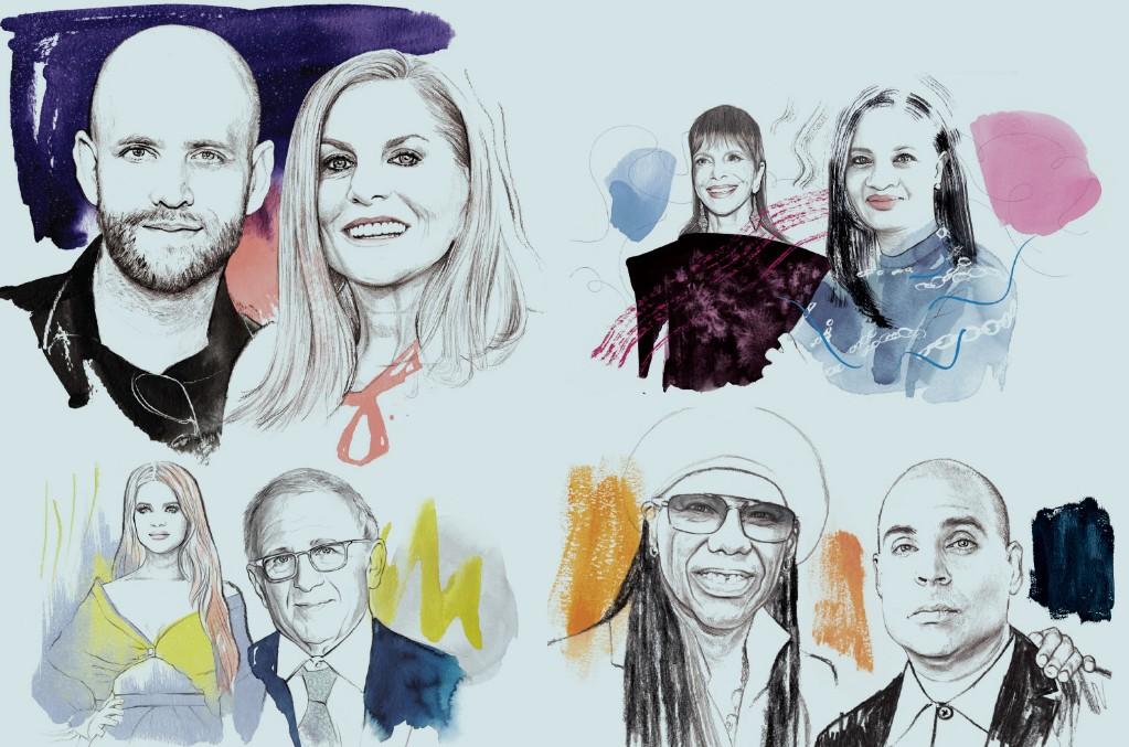 Daniel Ek and Dawn Ostroff, Sylvia Rhone and Elicia Felix-Hughey, Maren Morris and Irving Azoff, Nile Rodgers and Merck Mercuriadis