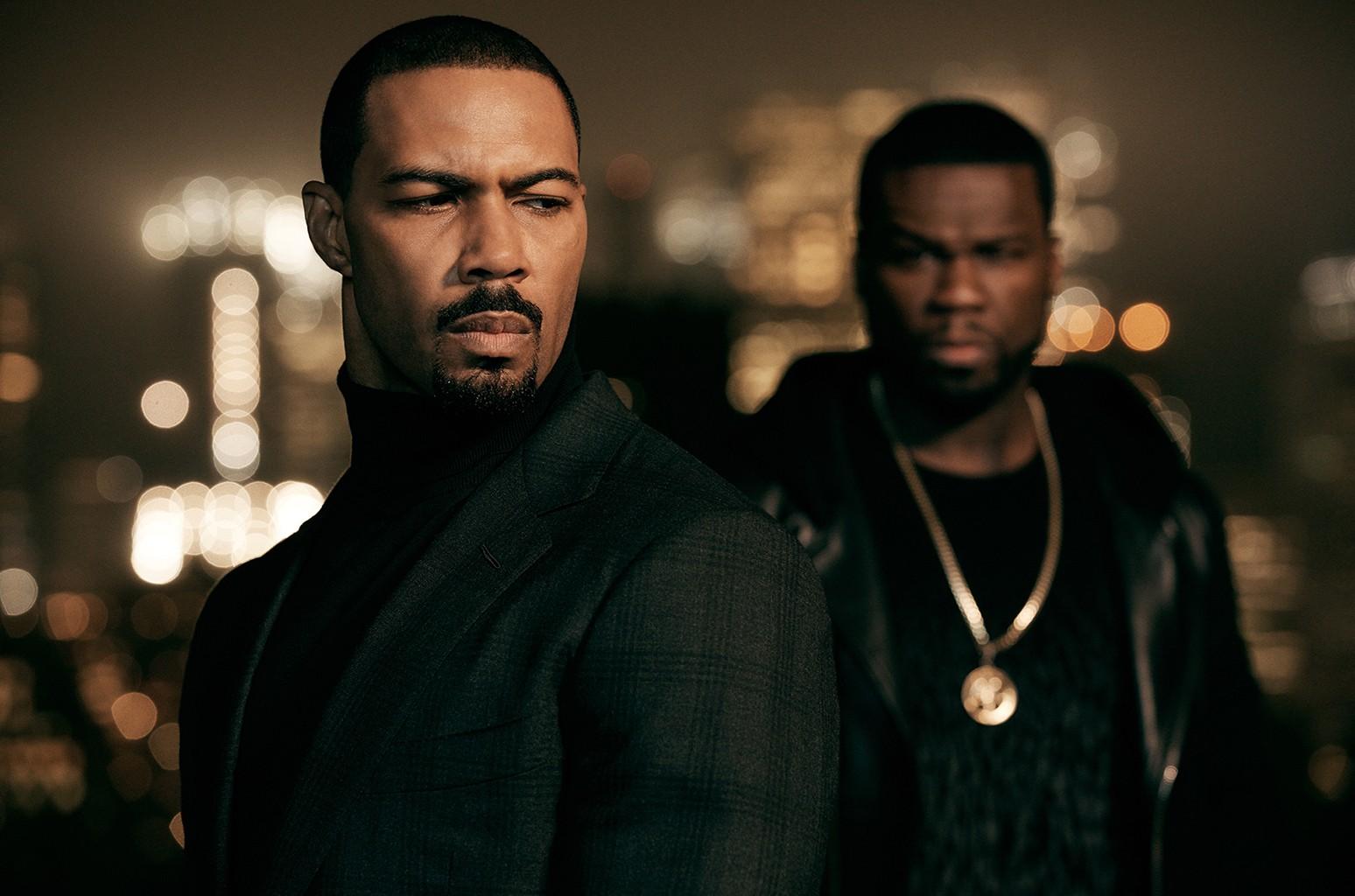 Omari Hardwick and Curtis '50 cent' Jackson on Power.