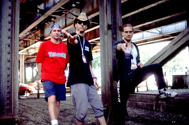 Larry LaLonde, Les Claypool and Tim Alexander of Primus