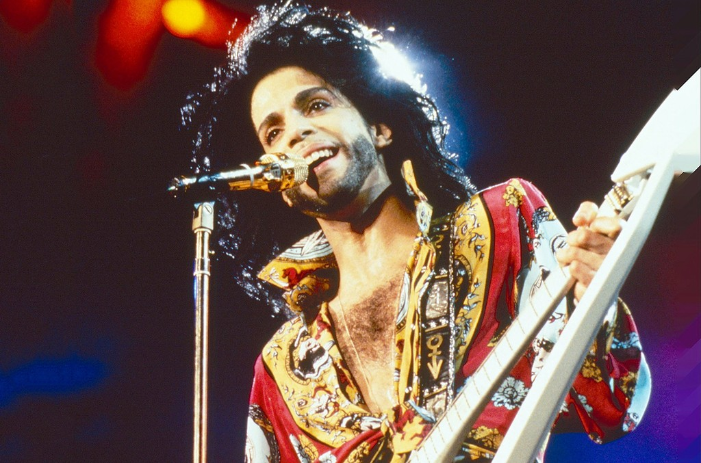Prince performs during Rock in Rio 2 on Jan. 18, 1991 in Rio De Janero, Brazil.