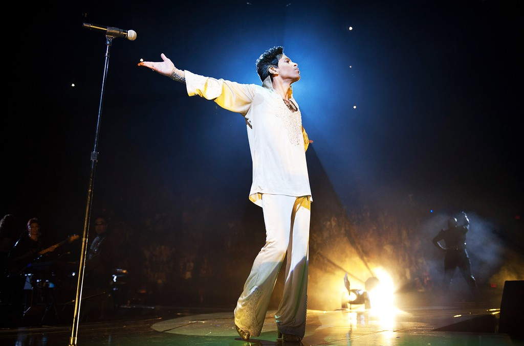 """Prince during the """"Welcome 2 America"""" Tour at The Forum, 2011"""