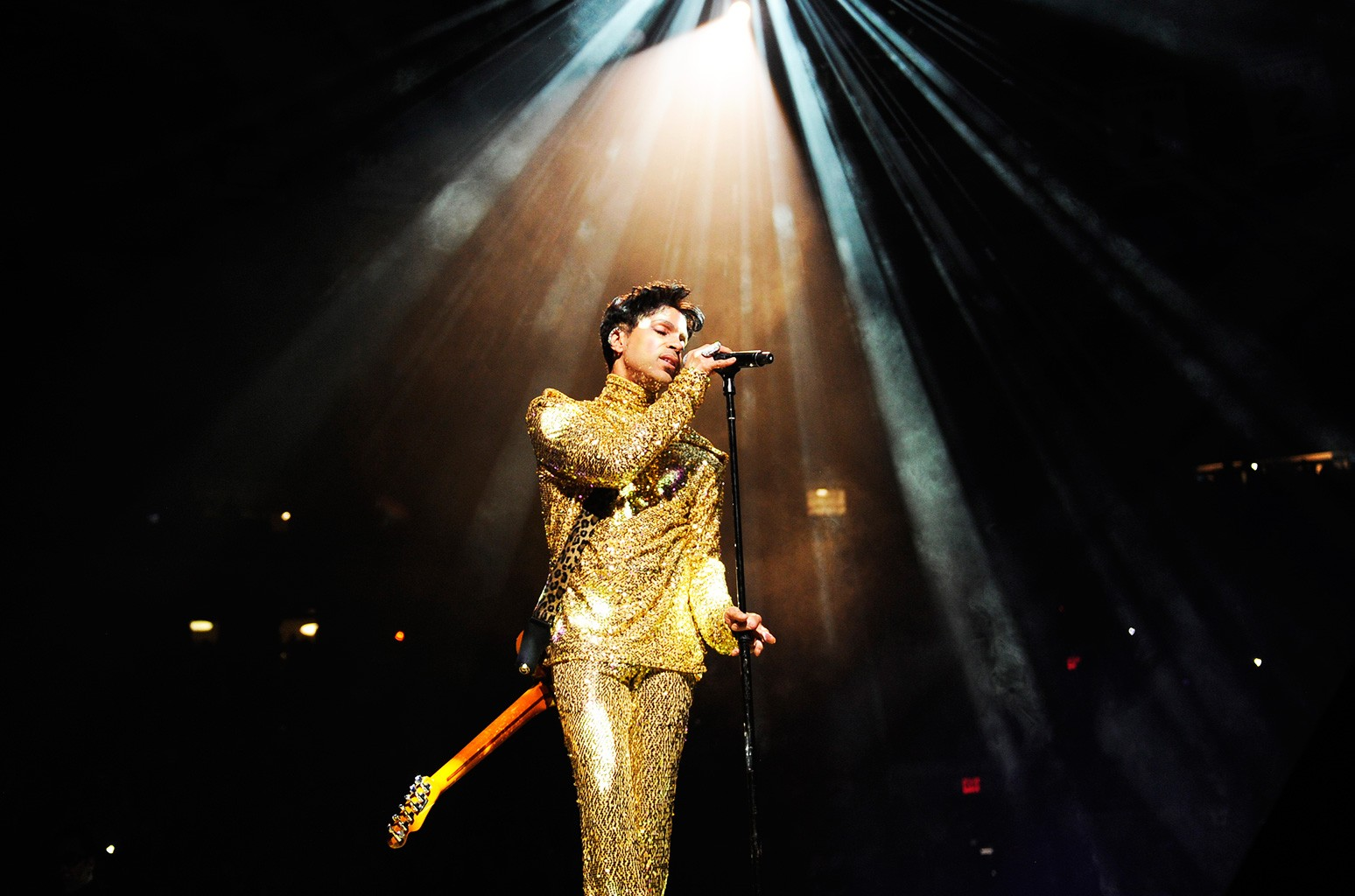 "Prince during his ""Welcome 2 America"" tour at Madison Square Garden, 2011"