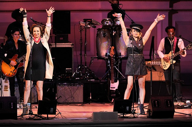 Maya Rudolph and Gretchen Lieberum of Princess perform during the Music of Prince at Carnegie Hall event.