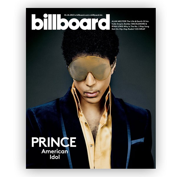 Prince on the cover of Billboard in 2013