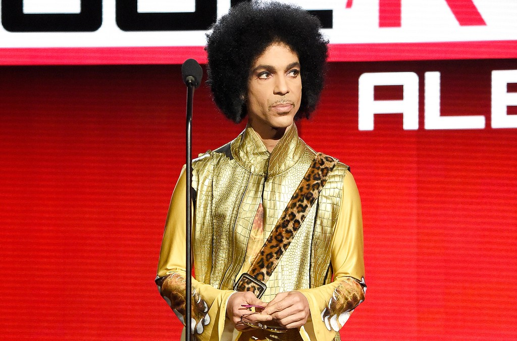 Prince speaks onstage during the 2015 American Music Awards at Microsoft Theater on Nov. 22, 2015 in Los Angeles.