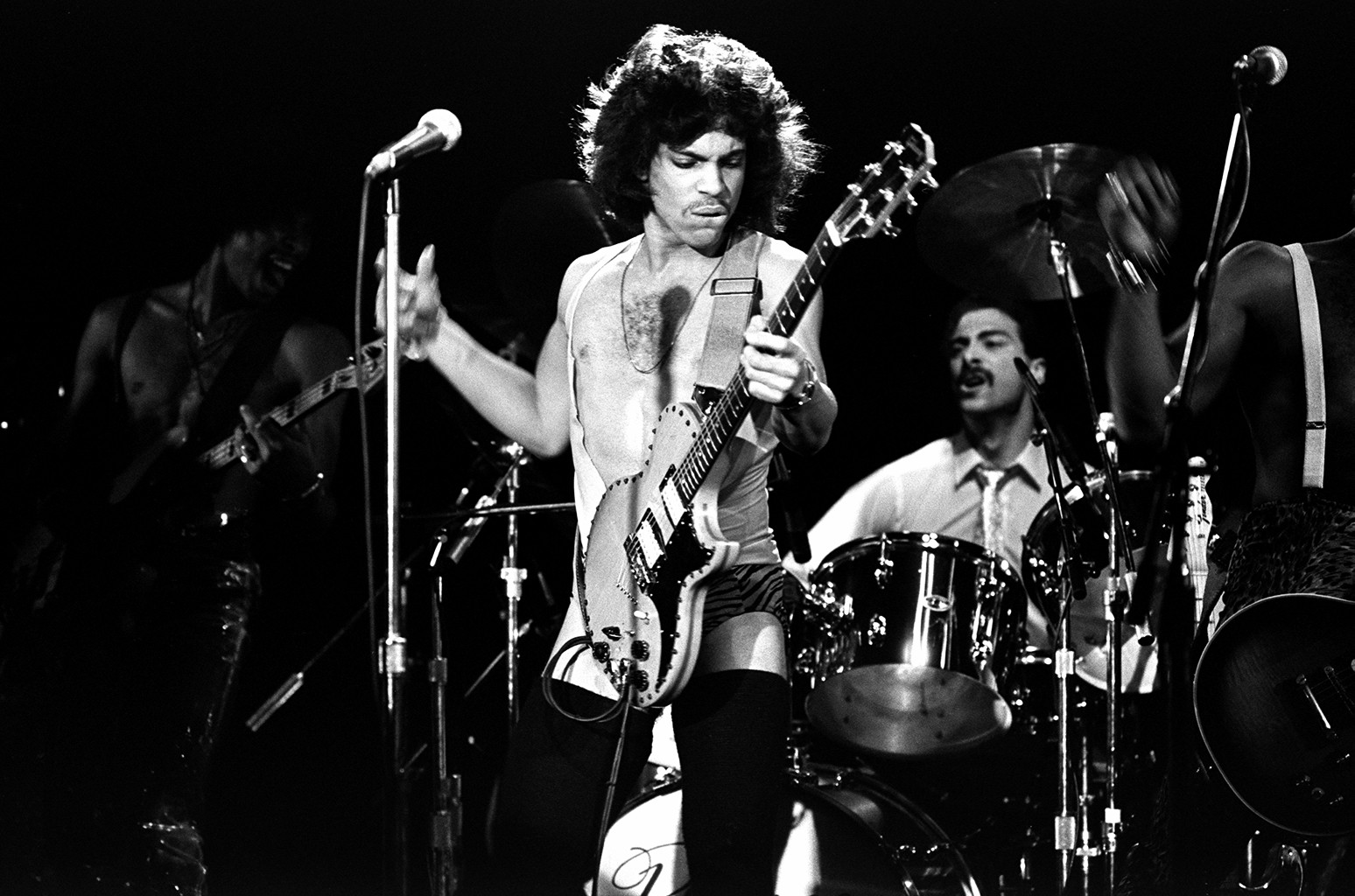 Prince performs in New York City.