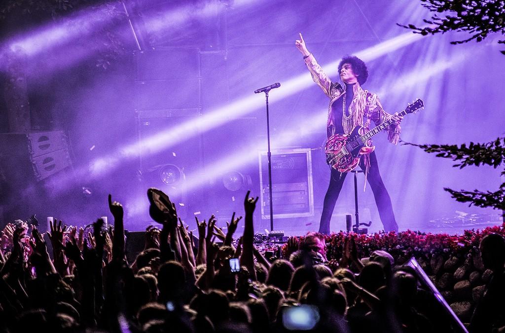 Prince performs at Skanderborg Festival 2013 in Denmark.