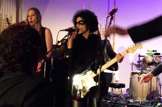 Prince at the 'Saturday Night Live' 40th anniversary after-party.