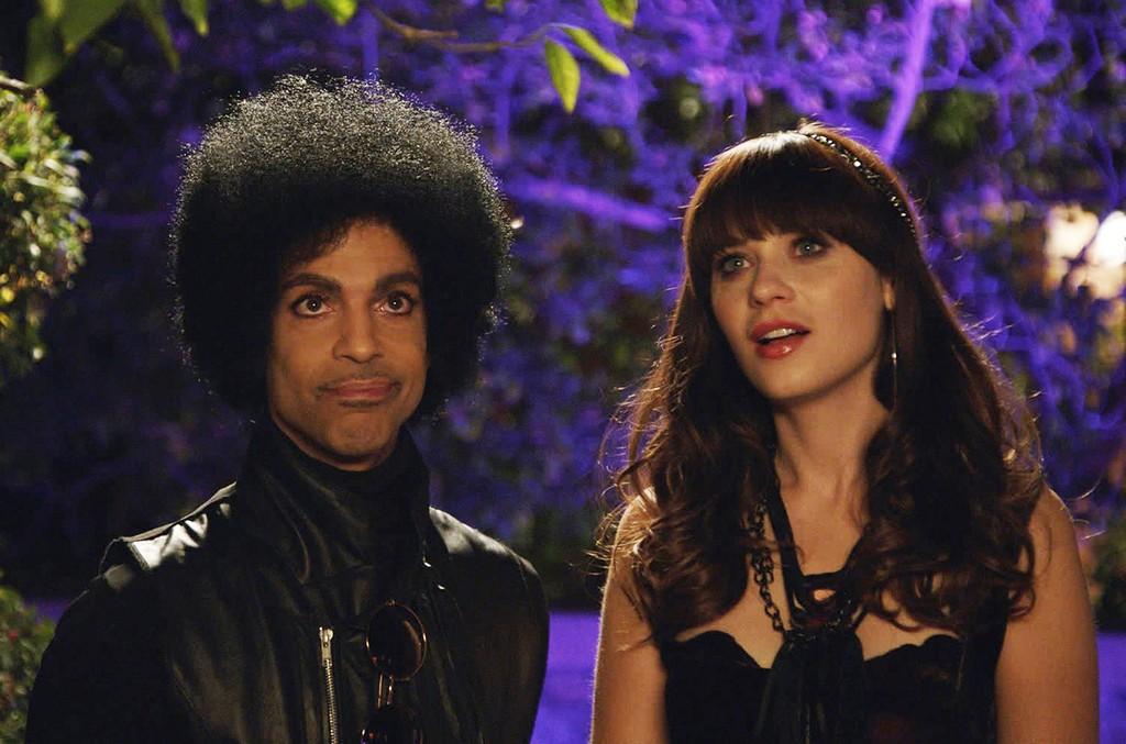 Prince and Zooey Deschanel on New Girl
