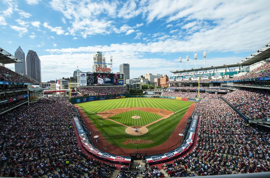 Progressive Field in Cleveland.