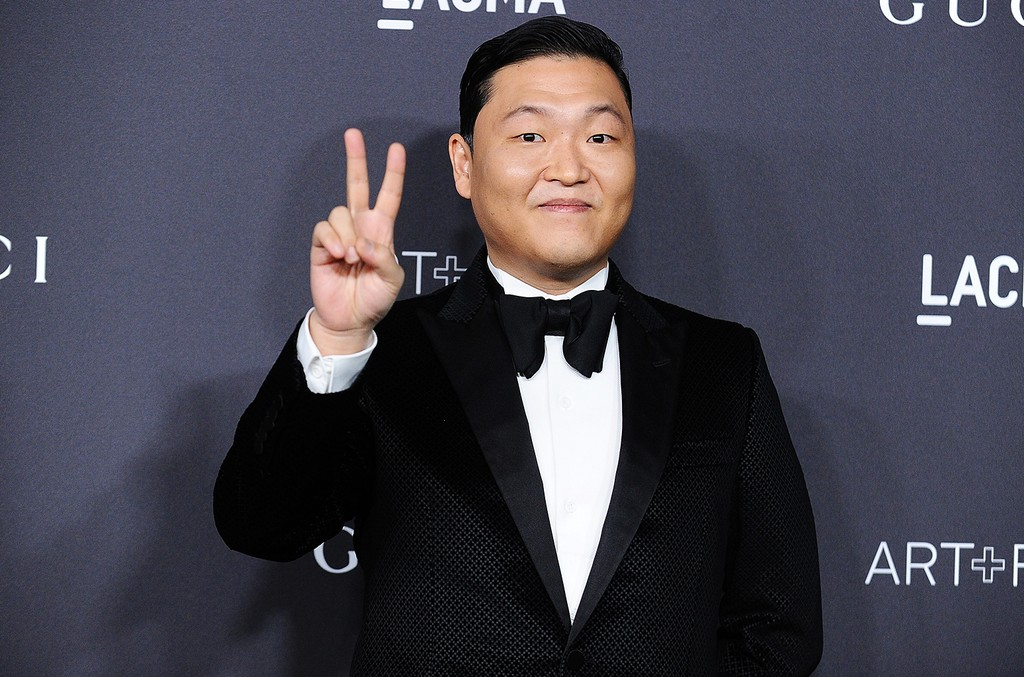 PSY attends the 2016 LACMA Art + Film gala at LACMA on Oct. 29, 2016 in Los Angeles.