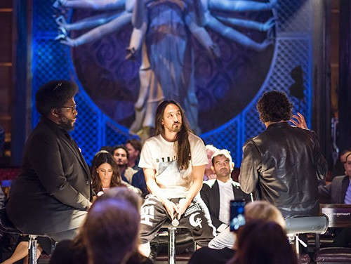 Questlove, Steve Aoki and PTTOW! CEO Roman Tsunder attend PTTOW! SESSIONS at the Dream Hotel in NYC on Oct. 29, 2015.