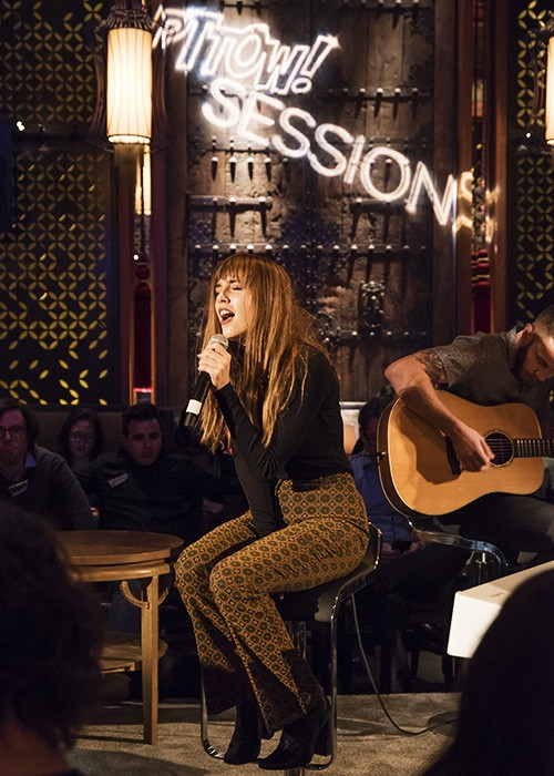 Surprise performance by Ryn Weaver at PTTOW! SESSIONS at the Dream Hotel in NYC on Oct. 29, 2015.
