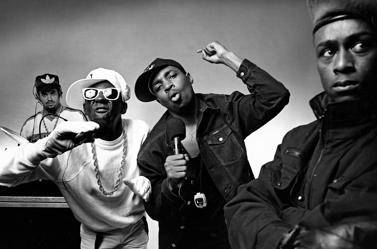 Public Enemy photographed in 1987